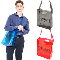 Charm's Collaboration Plain PVC Clothing Totes