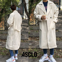 ASCLO Plain Long Oversized Trench Coats