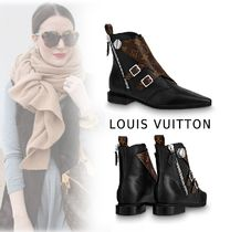 Louis Vuitton 2019-20AW JAMBLE LINE ANKLE BOOTS black 34-40 Shoes