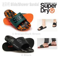 Superdry Camouflage Unisex Blended Fabrics Shower Shoes PVC Clothing