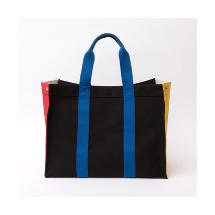 Casual Style Canvas A4 2WAY Totes