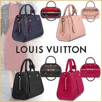 Louis Vuitton MONTAIGNE Monogram Blended Fabrics 2WAY Bi-color Leather Elegant Style