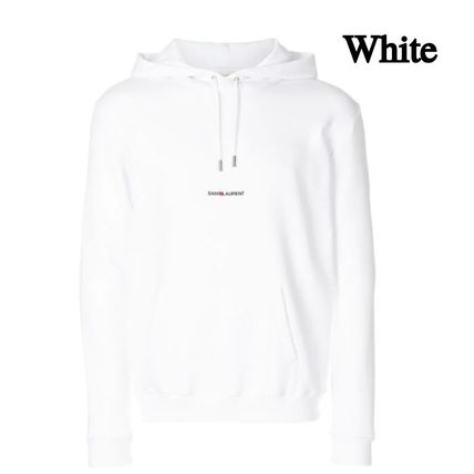 Saint Laurent Hoodies Pullovers Long Sleeves Plain Cotton Hoodies 3