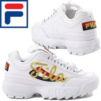 FILA Disruptor 2 Flower Patterns Lace-up Casual Style Unisex Street Style