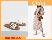 Chloe Open Toe Casual Style Blended Fabrics Shower Shoes