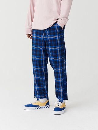 Tartan Other Plaid Patterns Street Style Cropped Pants