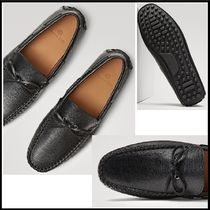 Massimo Dutti Moccasin Plain Leather Loafers & Slip-ons