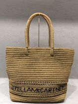 Stella McCartney A4 Plain Oversized Straw Bags
