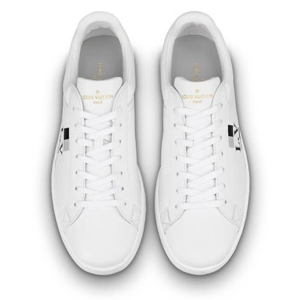 Louis Vuitton Sneakers Stripes Unisex Blended Fabrics Street Style Bi-color Leather 3