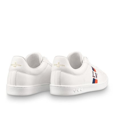 Louis Vuitton Sneakers Stripes Unisex Blended Fabrics Street Style Bi-color Leather 6
