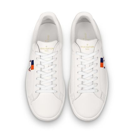 Louis Vuitton Sneakers Stripes Unisex Blended Fabrics Street Style Bi-color Leather 8
