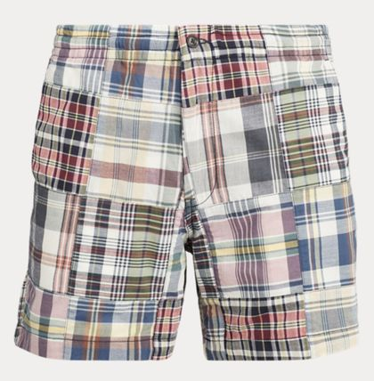 Printed Pants Other Plaid Patterns Street Style Cotton