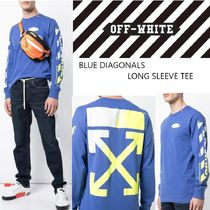 Off-White Street Style Long Sleeves Cotton Logos on the Sleeves