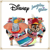 Disney Casual Style Collaboration Pin Heels Ankle & Booties Boots