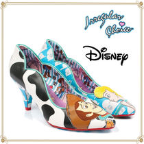 Disney Casual Style Collaboration Pin Heels Stiletto Pumps & Mules