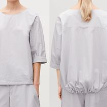 COS Casual Style Linen Plain Short Sleeves Tops