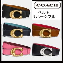 Coach Casual Style Plain Leather Belts