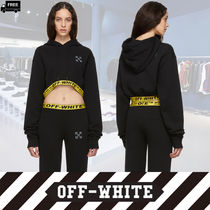 Off-White Short Long Sleeves Plain Cotton Handmade Cropped