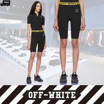 Off-White Short Casual Style Plain Handmade Shorts