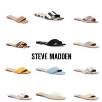 ce1f95427761 Steve Madden Leopard Patterns Open Toe Rubber Sole Plain Slippers Sandals