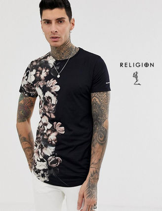 Flower Patterns Street Style Short Sleeves T-Shirts