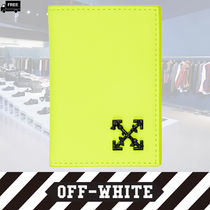 Off-White Plain Leather Handmade Card Holders