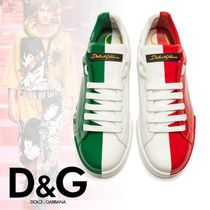 Dolce & Gabbana Driving Shoes Blended Fabrics Street Style Bi-color