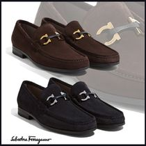 Salvatore Ferragamo Loafers Plain Leather U Tips Loafers & Slip-ons