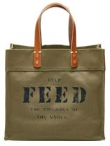 FEED Casual Style Unisex Street Style A4 Plain Totes