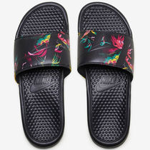 Nike BENASSI Flower Patterns Street Style Shower Shoes Shower Sandals