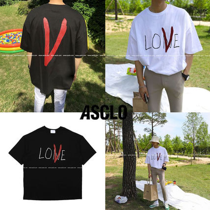 ASCLO More T-Shirts Plain Cotton Short Sleeves Oversized T-Shirts