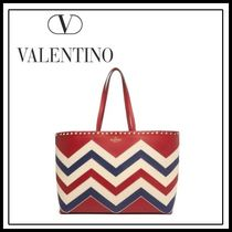 VALENTINO Studded A4 Totes