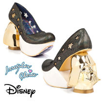 Disney Platform Casual Style Street Style Collaboration Leather