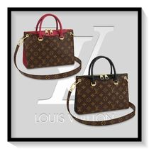 Louis Vuitton Monogram Canvas Blended Fabrics 2WAY Office Style Bold
