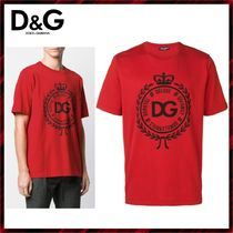 Dolce & Gabbana Crew Neck Cotton Short Sleeves Crew Neck T-Shirts