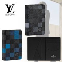 Louis Vuitton DAMIER GRAPHITE Other Check Patterns Leather Card Holders