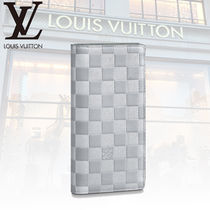 Louis Vuitton DAMIER INFINI Other Check Patterns Leather Long Wallets