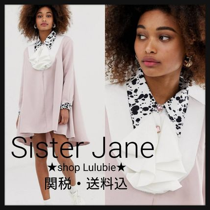Short Flared Long Sleeves Plain Other Animal Patterns