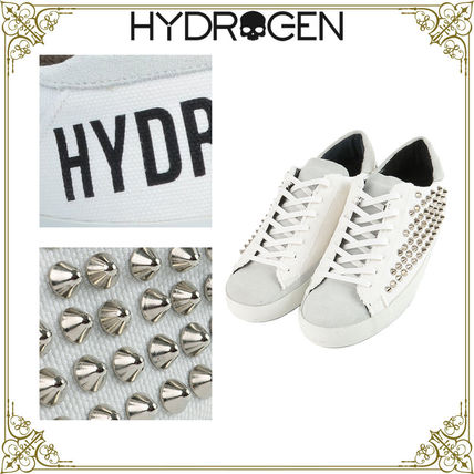 Skull Round Toe Casual Style Unisex Suede Studded