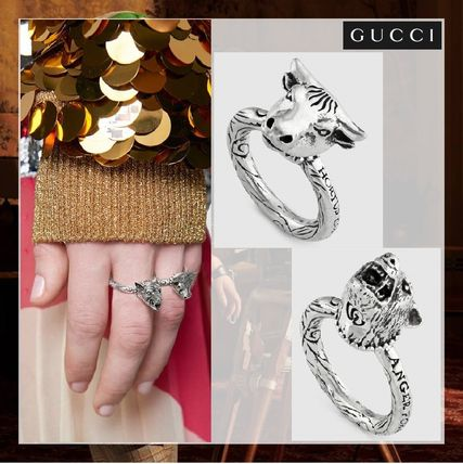 2515c2f3f18 GUCCI 2019 SS Unisex Other Animal Patterns Silver Rings by malta.N ...