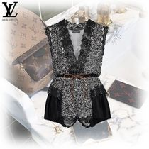 Louis Vuitton Silk Sleeveless V-Neck Dresses
