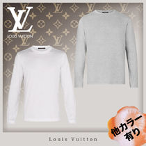 Louis Vuitton Crew Neck Unisex Long Sleeves Cotton Long Sleeve T-shirt