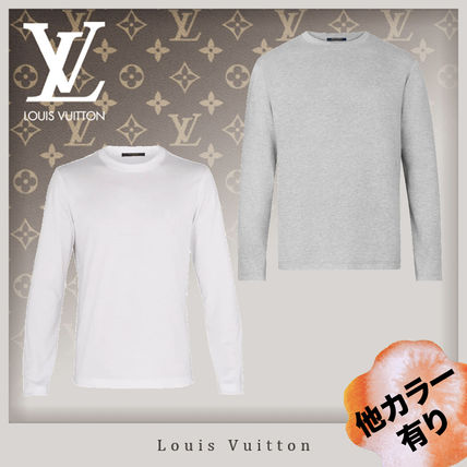 Louis Vuitton Long Sleeve Crew Neck Unisex Long Sleeves Cotton Long Sleeve T-Shirts 2