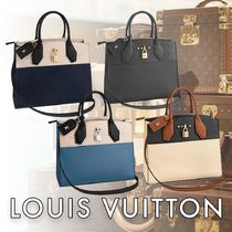 Louis Vuitton CITY STEAMER Monogram 2WAY Leather Handbags