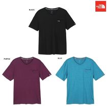 THE NORTH FACE Crew Neck Argile Unisex Low Gauge Street Style Plain Cotton