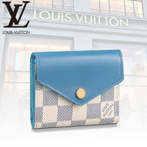 Louis Vuitton ZOE Other Check Patterns Leather Folding Wallets