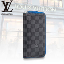 Louis Vuitton DAMIER GRAPHITE Other Check Patterns PVC Clothing Long Wallets