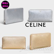 CELINE Leather Long Wallets