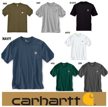 Carhartt More T-Shirts Unisex Street Style Plain Cotton Short Sleeves Oversized