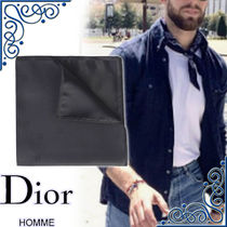 DIOR HOMME Silk Other Animal Patterns Handkerchief